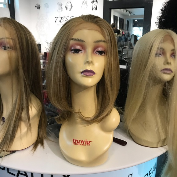 Accessories - Blonde brown Wig  bob Mix Human hair Blende Wig